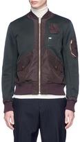 Kolor Contrast panel jersey bomber jacket