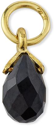 Jude Frances 18K Petite Black Spinel Briolette Earring Charm, Single