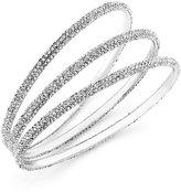 ABS by Allen Schwartz Bracelet Set, Silver-Tone Pave Crystal Bangle Bracelets