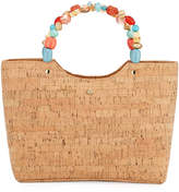 Cappelli Straworld Cork Top Handle Bag with Ring Handles
