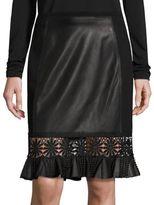 Elie Tahari Dallas Leather Skirt