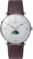 Junghans 027/4200.01 meister stainless steel and leather calendar watch