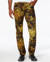 Versace Men's Slim-Fit Graphic-Print Jeans