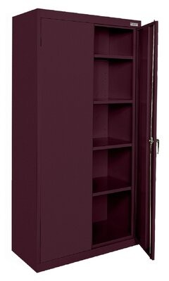 Classic Series 2 Door Storage Cabinet Sandusky Cabinets Color: Burgundy