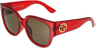 Gucci Women's Gg0142sa 55Mm Sunglasses