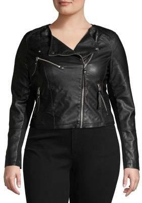 Vero Moda Curve Plus Favorite Faux-Leather Jacket
