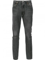 Levi's distressed low rise jeans