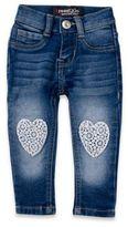 Freestyle Revolution Lace Crochet Heart Stretch Skinny Jean