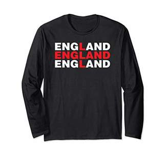 England Flag Style British Union Jack Novelty Cool Gift Long Sleeve T-Shirt