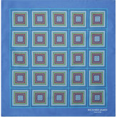 Richard James Rope Square Print Silk Pocket Square