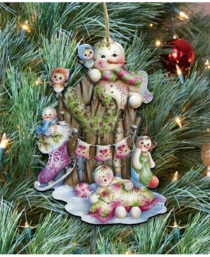 Designocracy Christmas Time Wooden Ornament by Jamie Mills Price Easter Spring Decor Set of 2