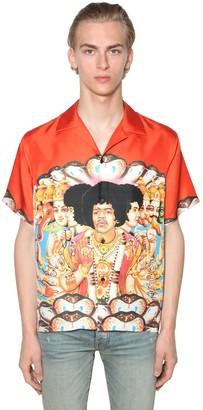 Amiri Jimi Hendrix Silk Bowling Shirt