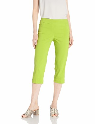 Slim Sation SLIM-SATION Women's Misses Wide Band Pull On Straight Leg Capri with Tummy Control