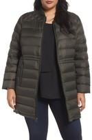 MICHAEL Michael Kors Plus Size Women's Packable Knit Trim Anorak