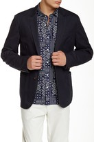Bonobos Blue Woven Two Button Notch Lapel Cotton Trim Fit Blazer