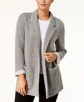 Style&Co. Style & Co Style & Co Petite Open-Front Terry Jacket, Created for Macy's