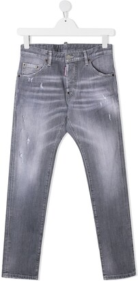 DSQUARED2 TEEN distressed jeans