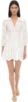 Zimmermann Corset Cotton Lace Mini Dress