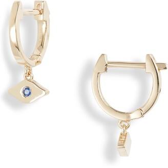 Ef Collection Evil Eye Huggie Hoop Earrings
