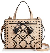 Kate Spade Hayes Street Isobel Woven Small Leather Satchel