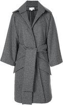 Antonio Berardi oversized wrap coat - women - Silk/Polyamide/Spandex/Elastane/Virgin Wool - 38