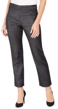 JM Collection Pull-On Foil Jacquard Pants, Created For Macy's