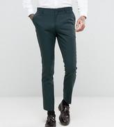 Number Eight Savile Row Skinny Suit Pant In Micro Herringbone