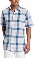 Report Collection Men's Large Scale Plaid Shirt