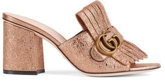 Gucci Women's mid-heel slide