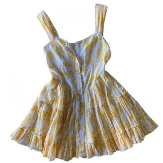Free People Yellow Cotton Dresses