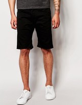 Edwin Denim Shorts Ed-55 Relaxed Tapered Cs Ink Black Rinsed
