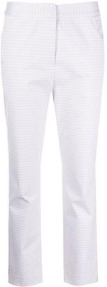 Malo Micro Print Slim Trousers