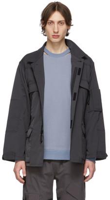 N.Hoolywood Grey Strap Jacket