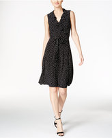 Tommy Hilfiger Ruffled Polka-Dot A-Line Dress
