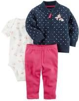 Carter's Baby Girl Rainbow & Unicorn Jacket Set