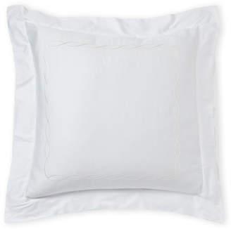 Frette White & Ivory Cardo Embroidery Euro Pillow Sham