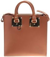 Sophie Hulme Beige Leather Square Albion Bag