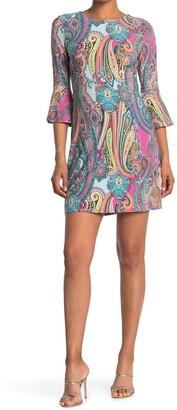 Tommy Hilfiger Jaipur Paisley Bell Sleeve Dress