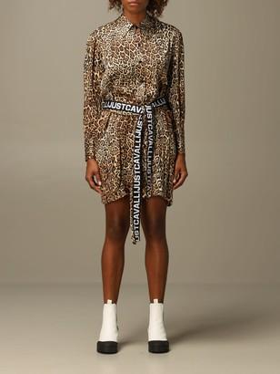 Just Cavalli Dress Animal Print Chemisier Dress