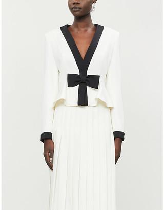 Alessandra Rich Bow-trim wool blazer