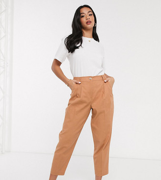 Asos DESIGN Petite linen dad pants