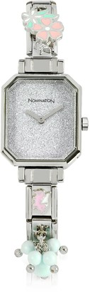 Nomination Silver Plated Stainless Steel Composable Women's Watch w/Crystals