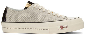 Visvim White and Black Skagway Lo Sneakers