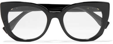 Fendi Cat-eye Acetate Optical Glasses - Black