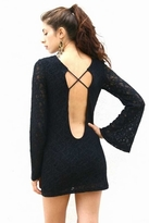 Nightcap Clothing Waxed Lace Priscilla Dress in Black