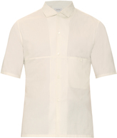 Lemaire Spread-collar cotton and linen-blend shirt