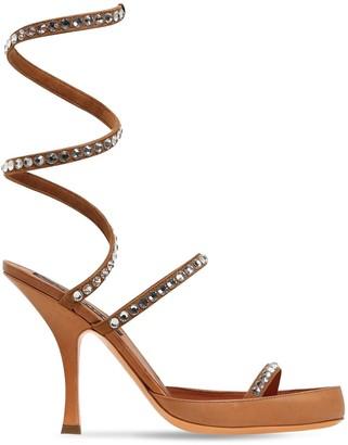 Y/Project 100mm Spirale Embellished Leather Sandal