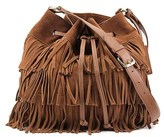 Vince Camuto Riqui Hobo Bag Women Suede Brown Hobo.