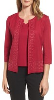 Ming Wang Women's Geometric Border Jacket
