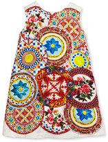 Dolce & Gabbana Sleeveless Printed Jacquard Shift Dress, Multicolor, Size 4-6